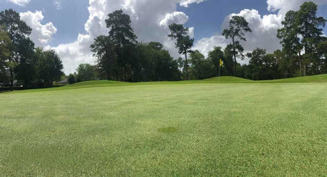 A view of the 3rd green at Post Oak Course from Longwood Golf Club.