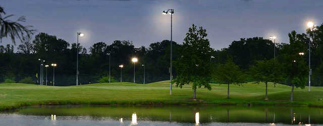 An evening view from Peachtree Golf Center.