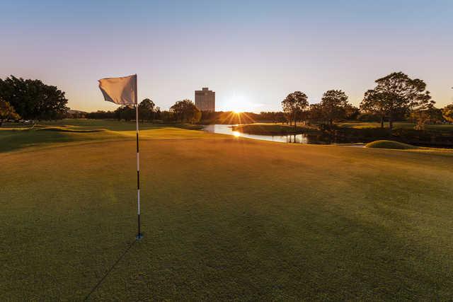 View from a green at Royal Pines Resort.