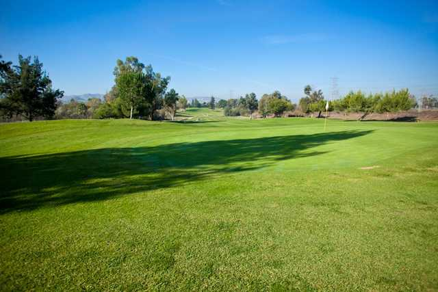 A view of hole #2 at Chino Creek from El Prado Golf Courses.
