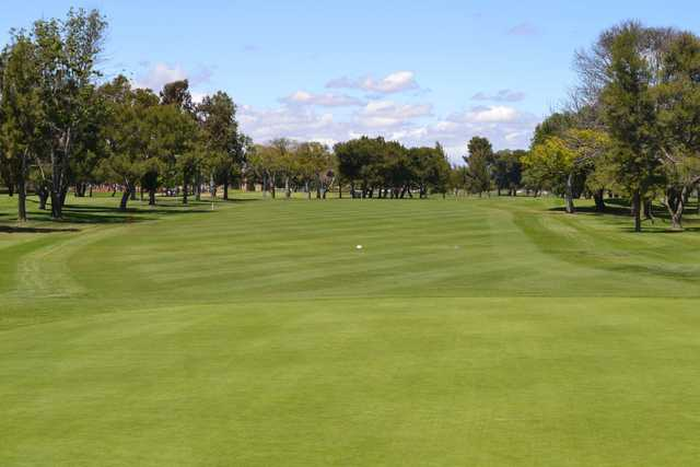 A view of a fairway at Mile Square Golf Course.
