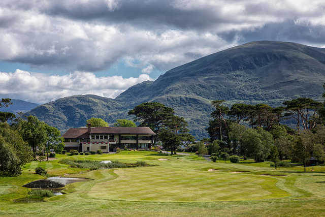 View of the 18th hole and clubhouse from the Killeen Course at Killarney Golf and Fishing Club
