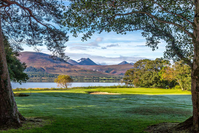 View of a green from the Mahony's Point Course at Killarney Golf and Fishing Club
