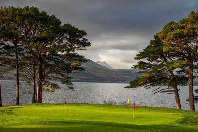 View of the puttin green at Killarney Golf and Fishing Club