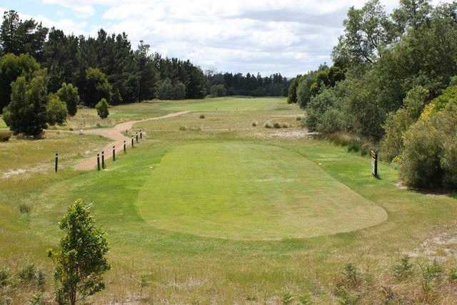 A view of tee #5 at Llanherne Golf Club