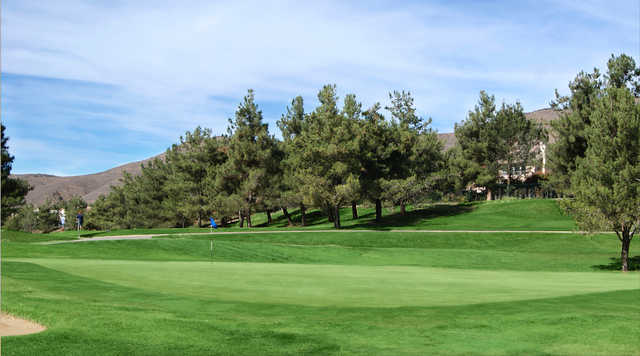 A view of a green at Yucaipa Valley Golf Club.