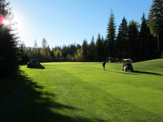 View of the 6th hole at Priest Lake Golf Club.