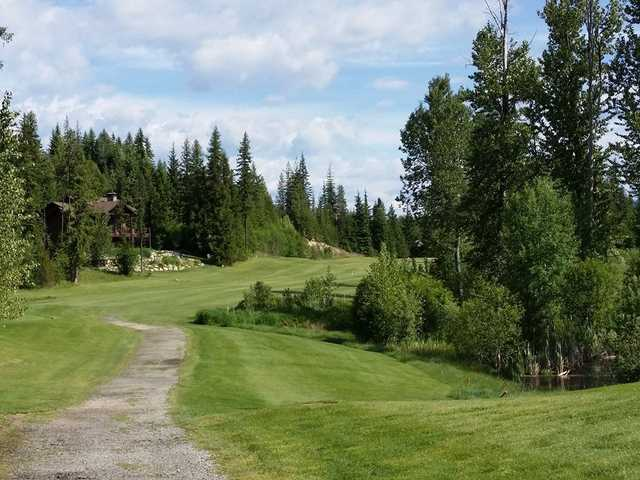 View of the 11th hole at Priest Lake Golf Club.