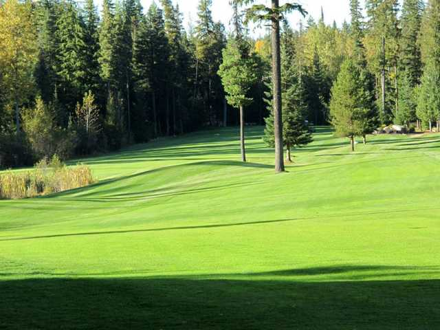 View of the 13th and 14th fairways at Priest Lake Golf Club.