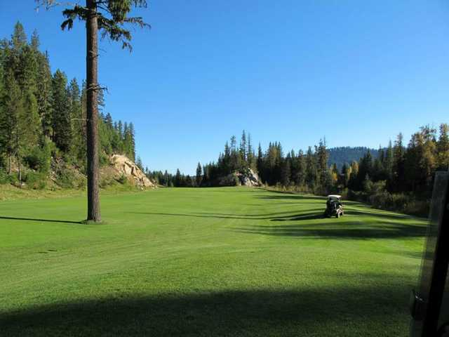 View of the 14th fairway at Priest Lake Golf Club.