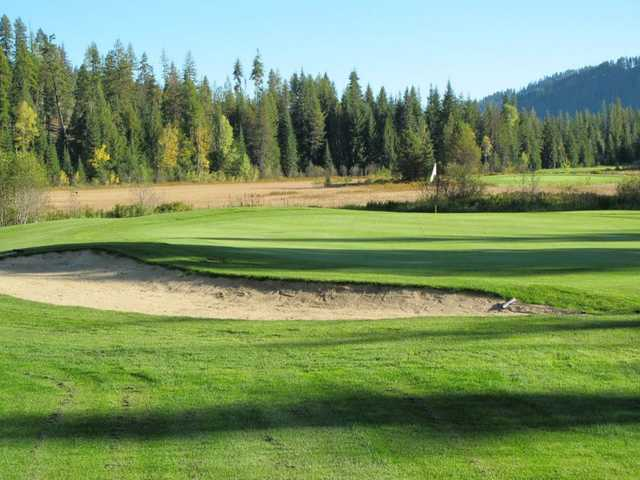 View of the 14th hole at Priest Lake Golf Club.