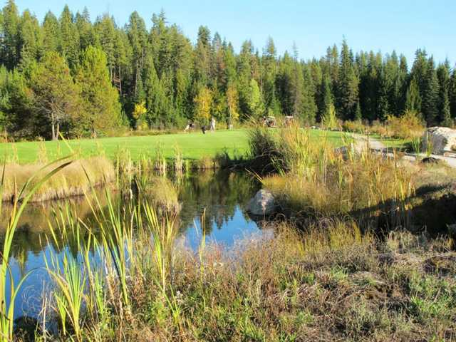 View of the 15th hole at Priest Lake Golf Club.
