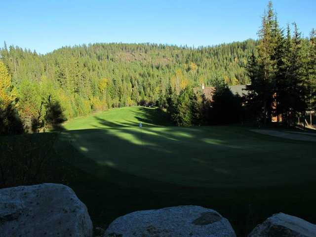 View of the 17th hole at Priest Lake Golf Club.