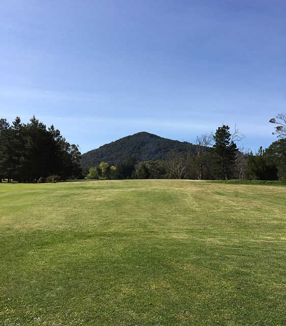 A view from Mount Macedon Golf Club.