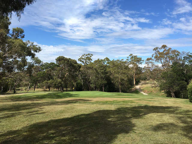 View of a green at Mount Macedon Golf Club.