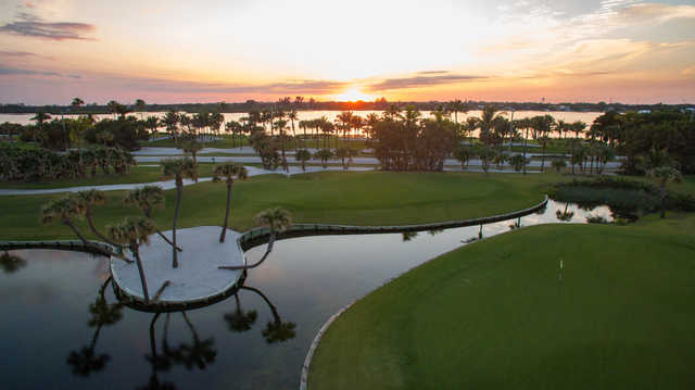 A sunset view from Palm Beach Golf Course.