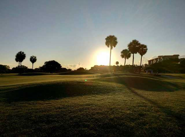 A morning day view from Palms at Palm-Aire Country Club.
