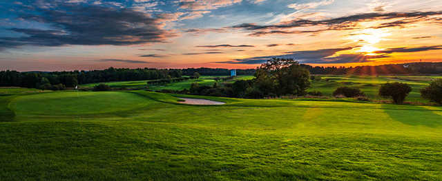 A sunset view of a hole from The Links At Union Vale.