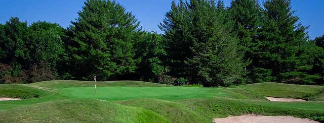 A view of a hole at Blue Fox Run Golf Course.