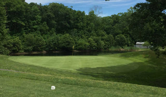 A view of a hole at Western Hills Golf Course .