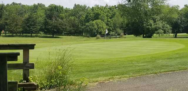 A view of a hole at Raritan Landing Golf Course.