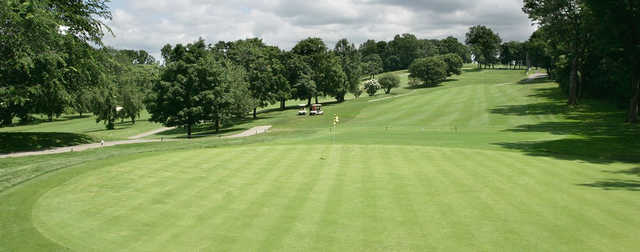 A view of a hole at Kissena Park Golf Course.
