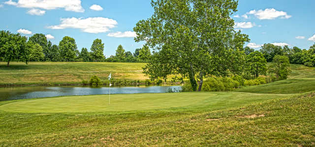 View of the 2nd green at Maysville Country Club.