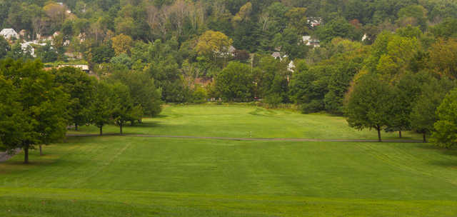 A view of a hole at Hendricks Field Golf Course.