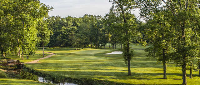 A view of a green at Ash Brook Golf Course.