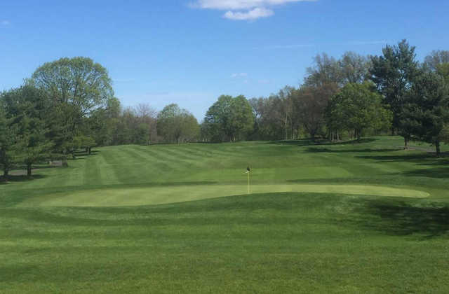 A view of the 9th hole at Ash Brook Golf Course.