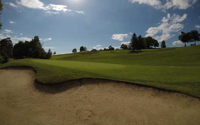 A view of a hole at Green Hill Golf Club.