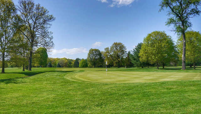 A spring view of a hole at Red Hook Golf Club.