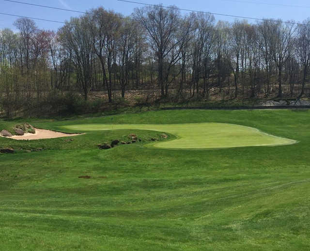 A view of a green from The Tradition Golf Club At Wallingford.
