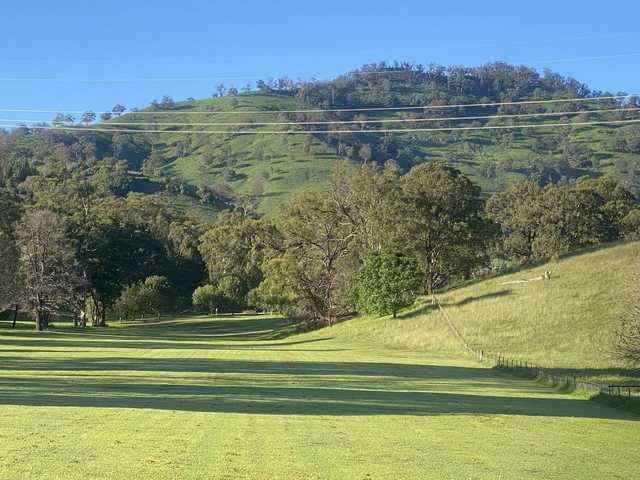 View from a fairway at Murrurundi Golf Club.