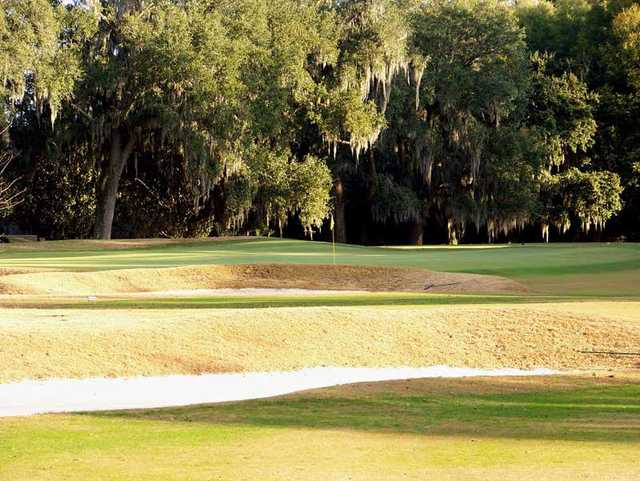 A sunny day view of a hole at Yeamans Hall Country Club.