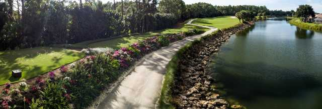A view of tee #14 at Naples Heritage.
