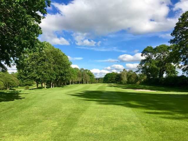 View of the 1st fairway and green at Marton Meadows Golf Course.