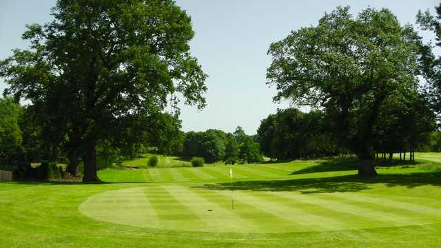 View of the 9th green at Marton Meadows Golf Course.