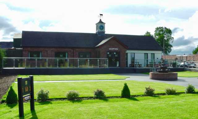 View of the clubhouse at Marton Meadows Golf Course.