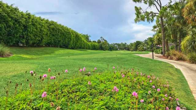 A view of a tee at Glen Eagle Golf & Country Club.