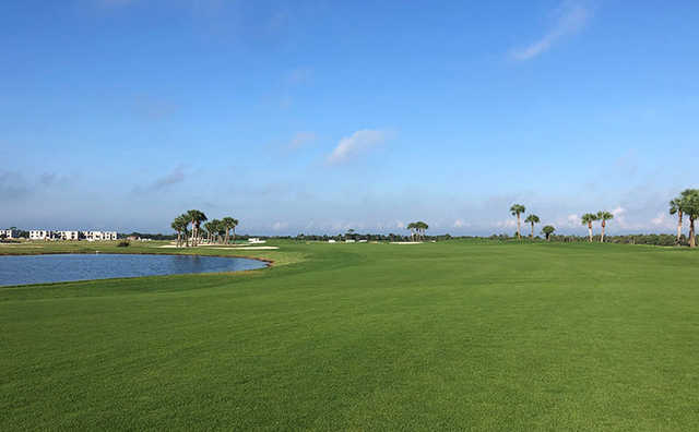 A view from a fairway at Heritage Landing Golf & Country Club.