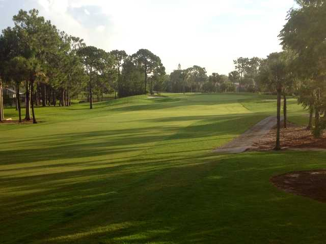 A view of the 2nd fairway at Royal Palm Country Club.