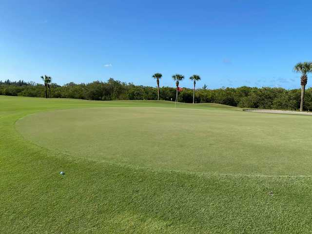 A view of a green at Cape Royal Golf Club.
