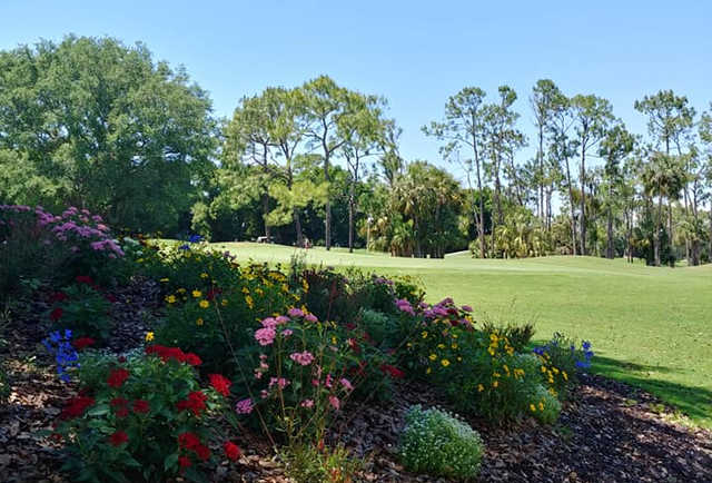 A sunny day view from Hunters Ridge Country Club.