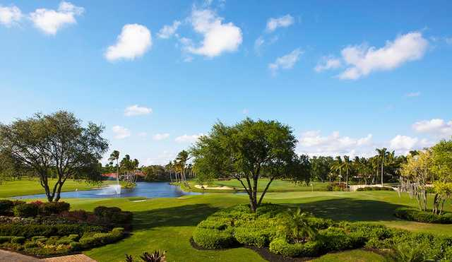 A sunny day view from Boca Grove Golf & Tennis Club.
