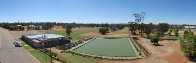 Panoramic view from Coolamon Golf Club