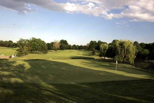 Looking back from the North Course 1st green at Otter Creek Golf Course
