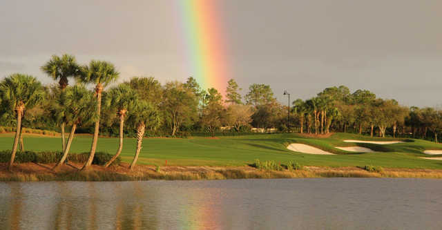 A rainbow view over The Club At Mediterra.