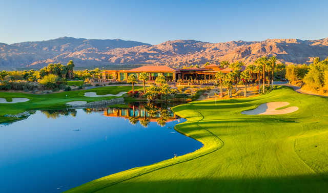 A view of the clubhouse at Desert Willow Golf Resort.