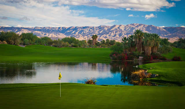 A view of a hole at Desert Willow Golf Resort.